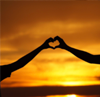heart shape with two hands together