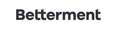 The logo of betterment dark blue letters on a grey background