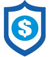 a shield with a dollar sign on it