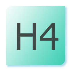 A green box with H1 written in it